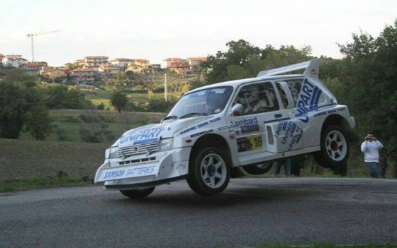 Metro 6R4 big jump San Marino Legends Rally 2013